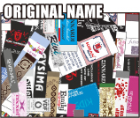 オリジナルネーム製作